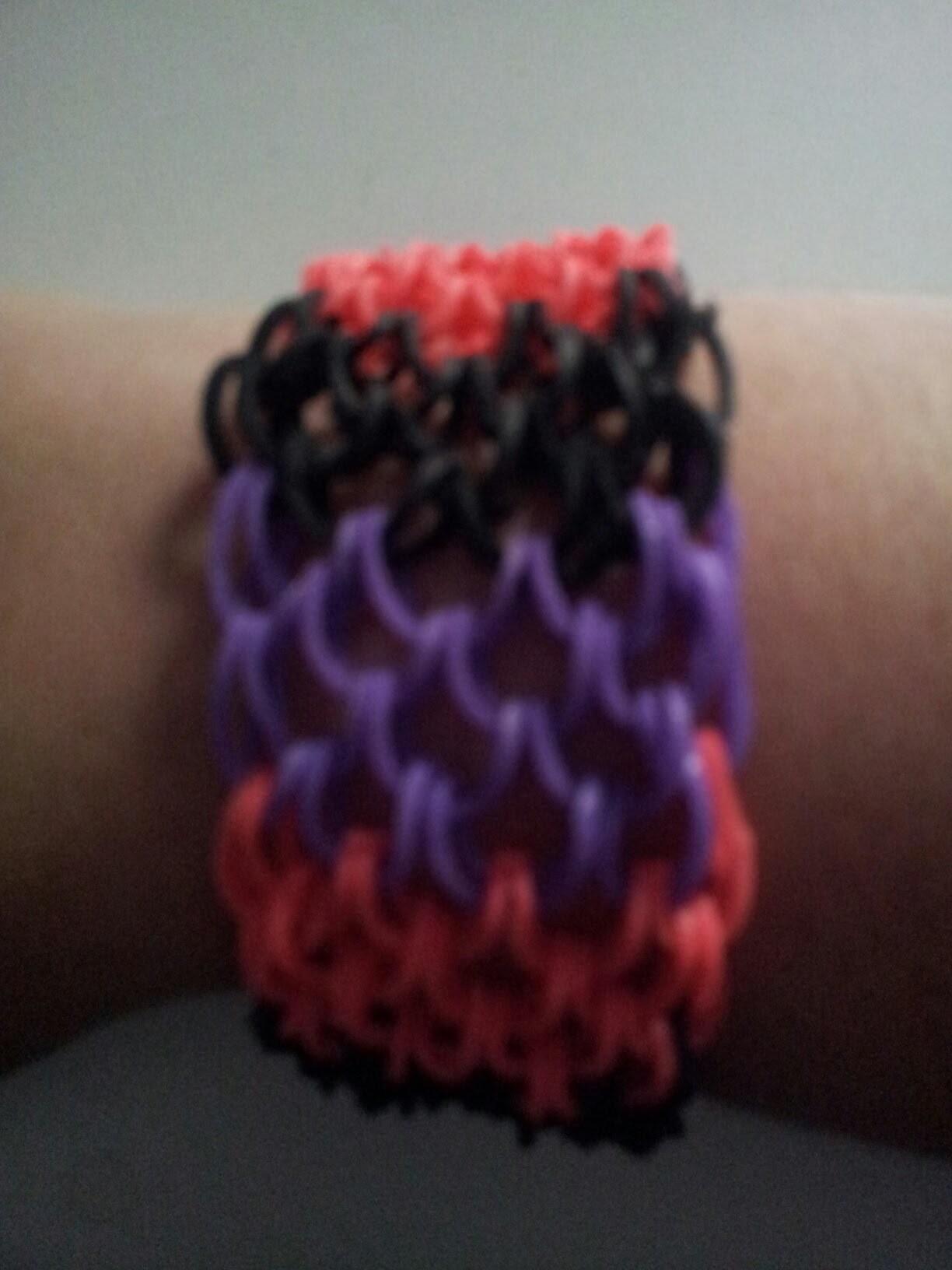 Tuto : bracelet rainbow loom écaille de dragon en français