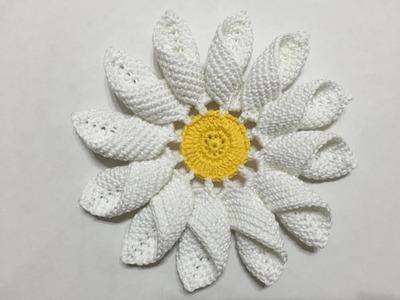 Tuto grande fleure  marguerite au crochet