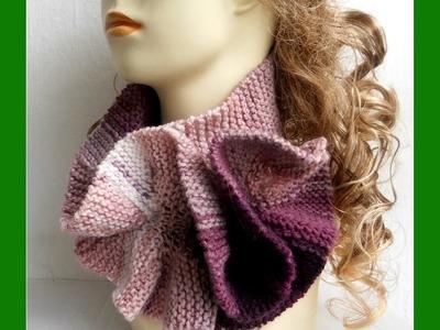 Garter ruffles scarf #01
