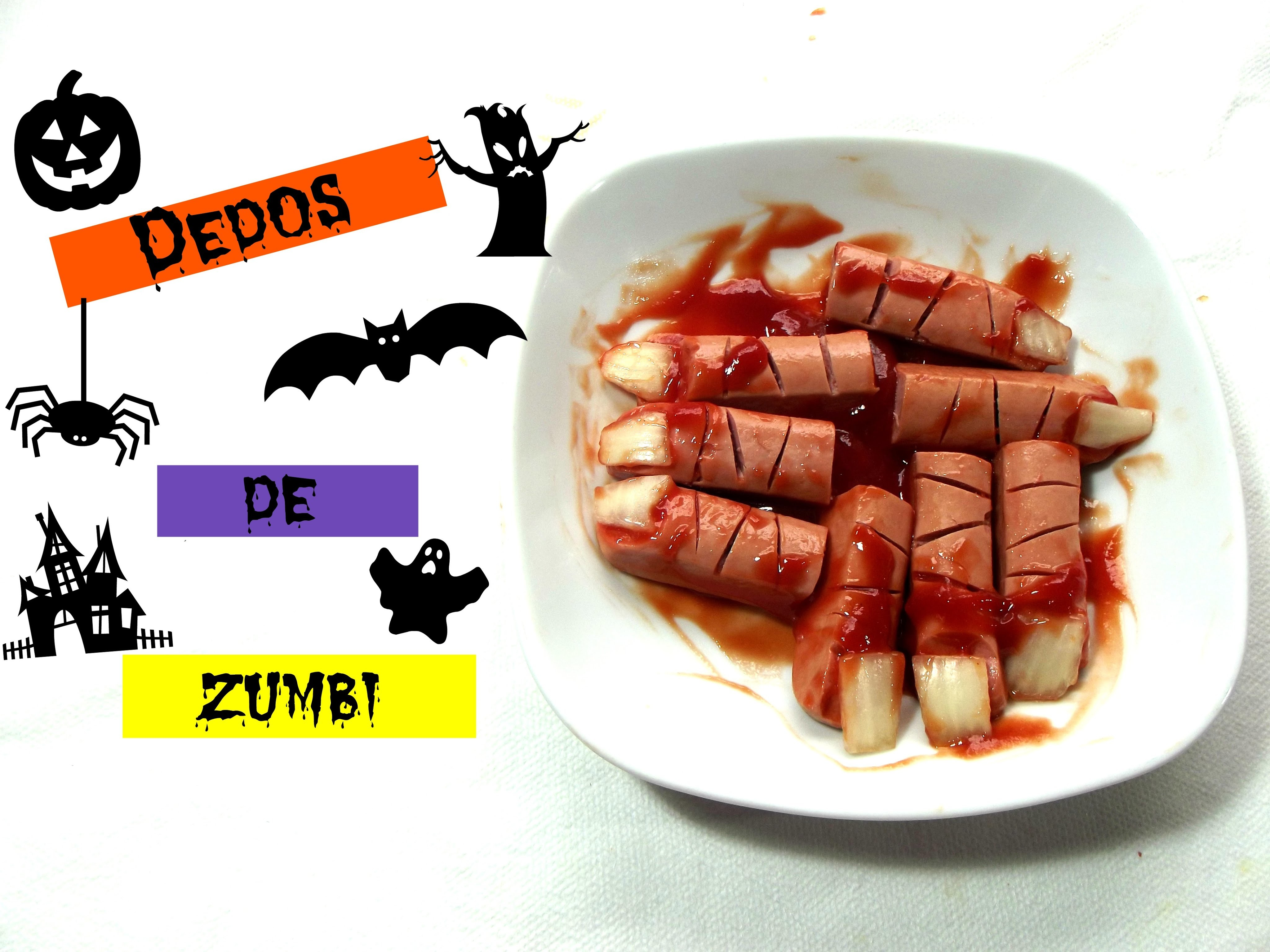 DIY: Dedos de Zumbi. HALLOWEEN. Fingers Zombie ✞