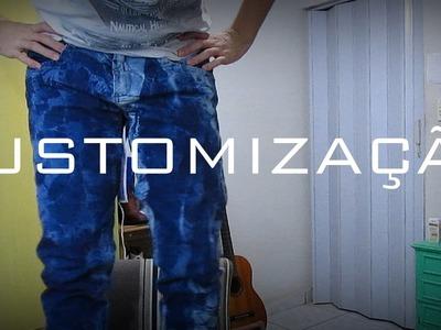 DIY : Jeans Manchado