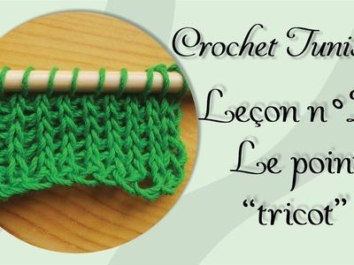 """[Tutoriel] Crochet Tunisien - Leçon 2 : Le point """"tricot"""""""