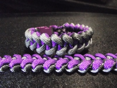 Paracord, bracelet Weavy loops piranha (tuto francais paracorde)