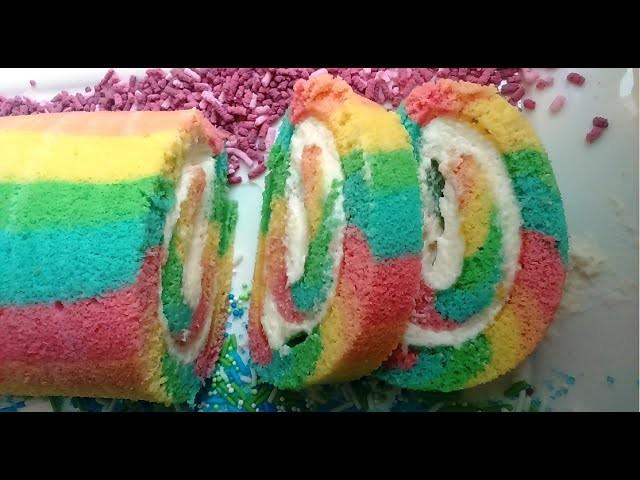 Recipe rainbow cake ** recette Arc en ciel cake