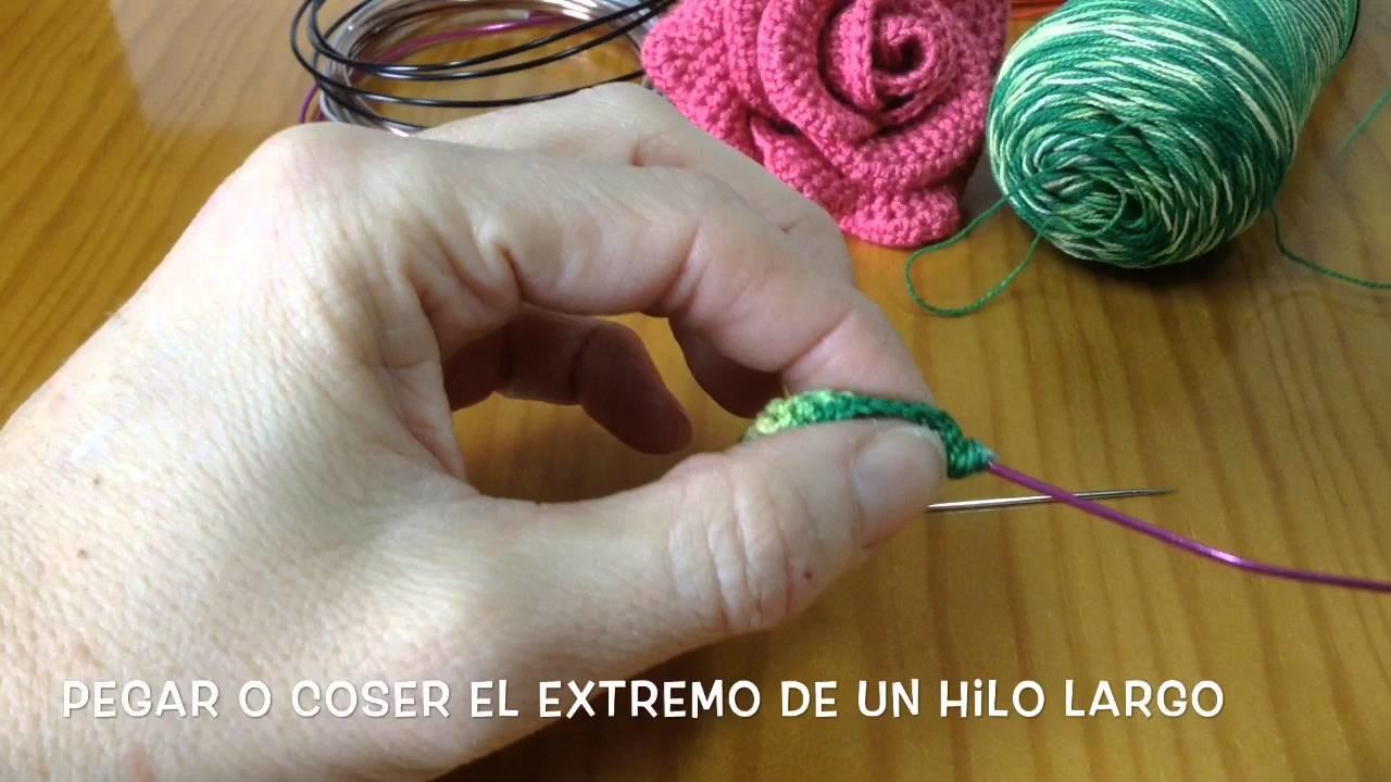 Rosa de crochet