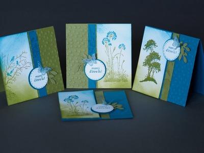 Ensemble de cartes rapide Serene silhouettes Stampin' Up!