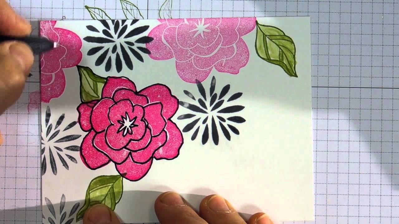 Estampage 101 -Incorporer du doodling-Marika Lemay-www.lamagiedesetampes.com