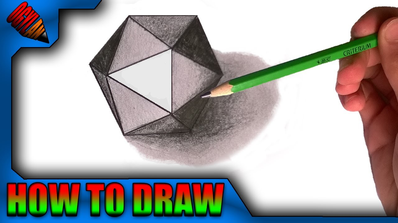 How to draw a geometric form in 3D - Easy !