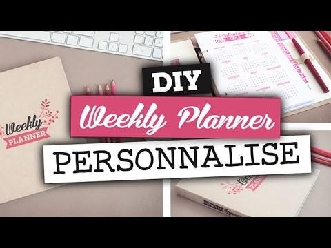 DIY Accessoires. Créer un planner (ou organiseur) 2016 peronnalisé