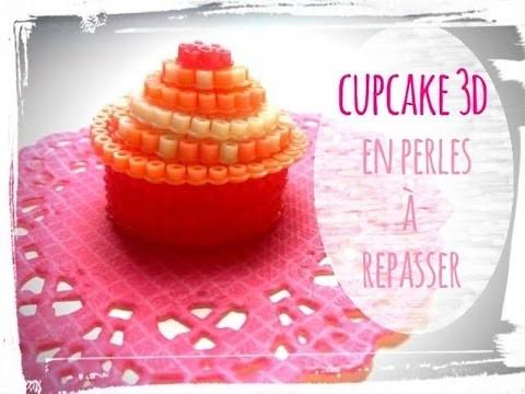 Diy perles à repasser cup cake 3d