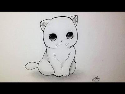 Comment dessiner un Chaton Kawaii [Tutoriel]