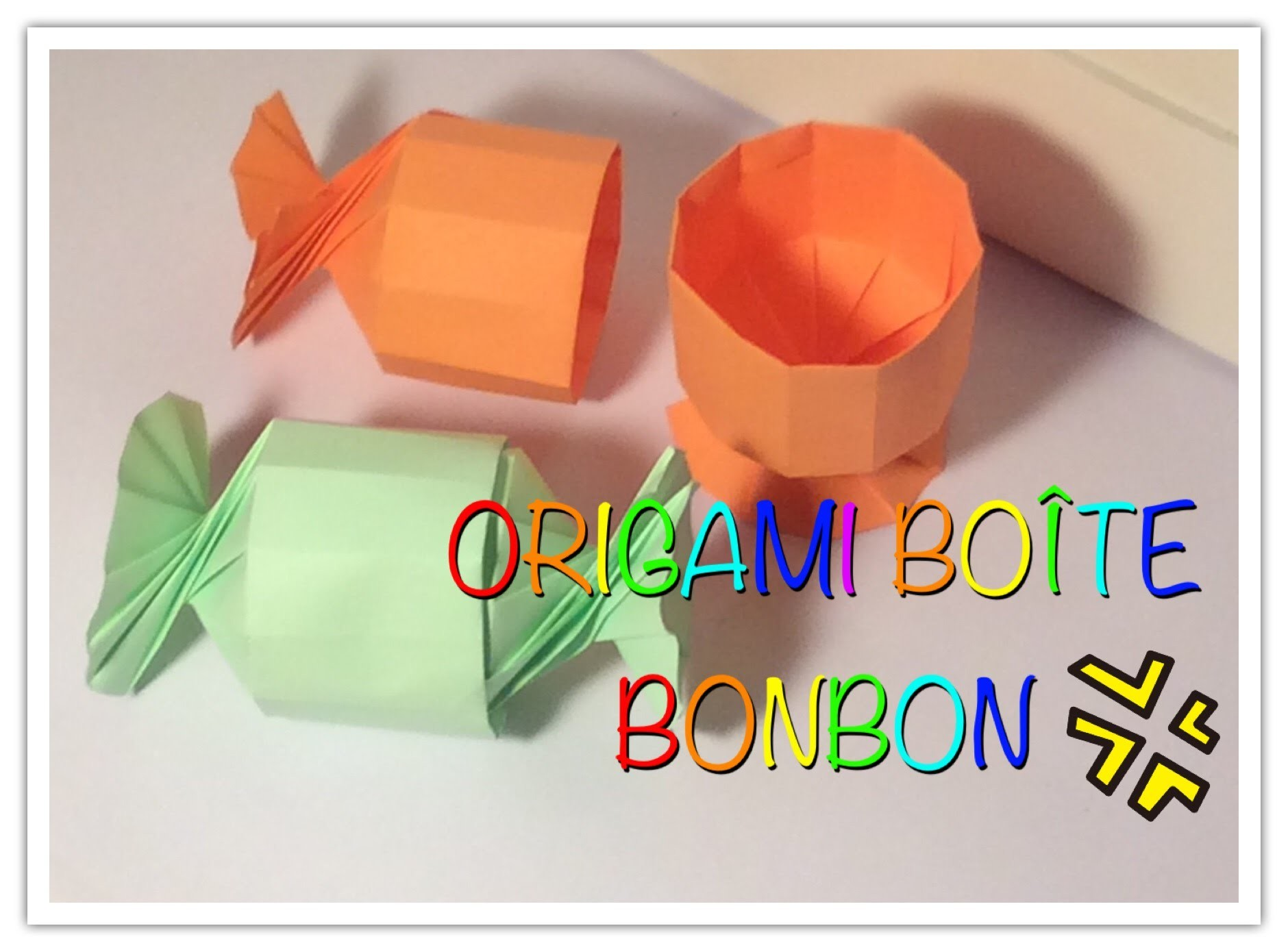 ORIGAMI BOÎTE BONBON. CANDY BOX (Mathis Lopez - Funny Origami) - photo#4