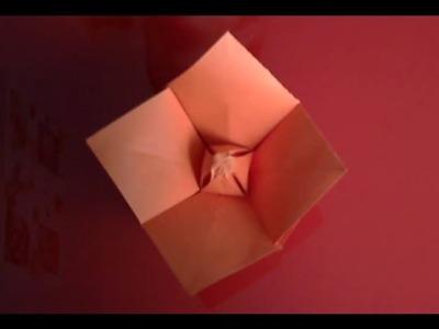 Origami Fleur de pavot facile à réaliser