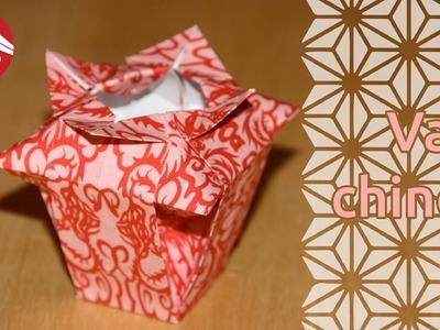 Origami - Vase chinois - Chinese Vase [Senbazuru]