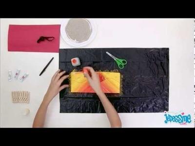 Affiche bienvenue sable - les ateliers bricolage jedessine.com