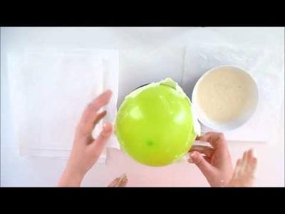 Bricolage de Pâques pour enfants. Fabriquer un œuf en papier géant