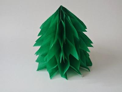 Bricolage Noël. Comment faire un sapin de Noël en papier de soie