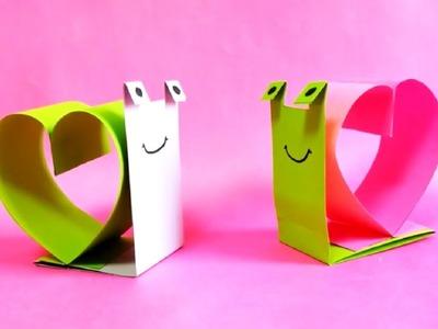 Bricolage Saint Valentin : un escargot d'amour !