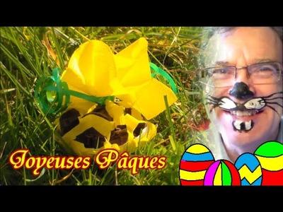 Déco de Pâques : Bricolage d'un panier ou corbeille DIY
