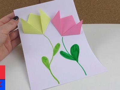 Image de printemps avec des fleurs en papier | Bricolage et pliage | Français