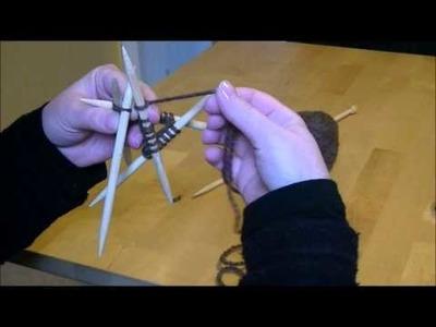 Tricoter en rond avec des aiguilles double pointes