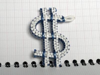 Comment faire le logo du dollar en scoubidou