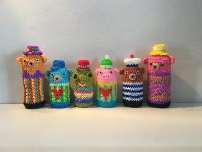 Rainbow Loom レインボールーム くまのペットボトルカバー Housse de bouteille en forme d'ours