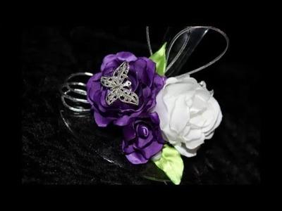 Tuto rose tissu (ruban de satin) fleurs kanzashi