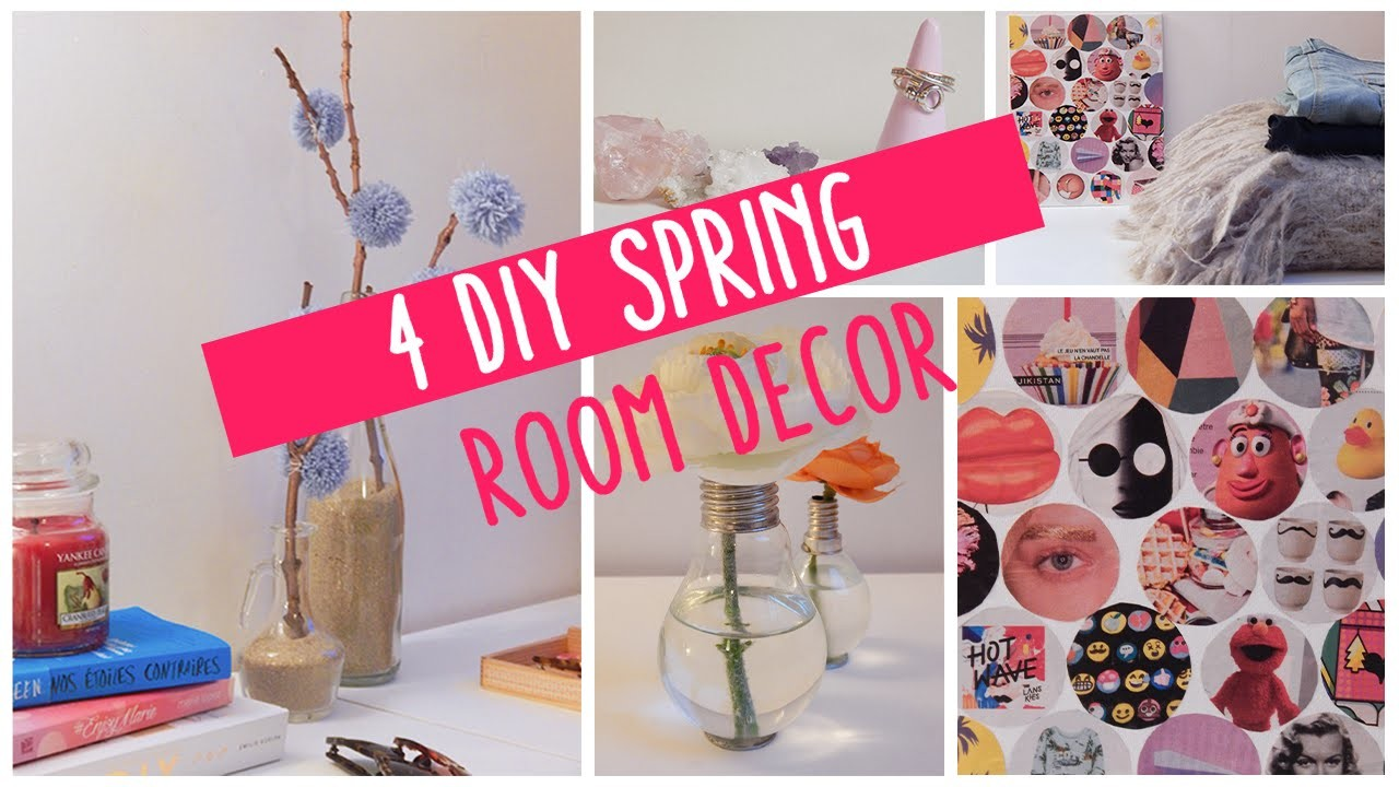 4 DIY spring room decor