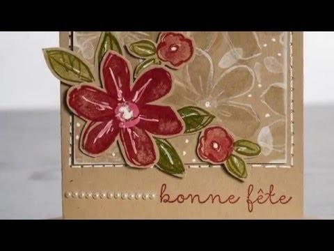 Encre craft blanche Stampin' Up! Marika Lemay La magie des étampes