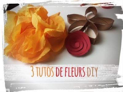 Fleurs en papier- 3 tutos diy