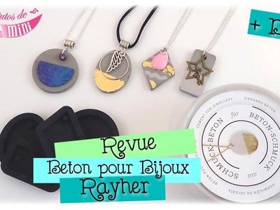 Revue et DIY béton pour bijoux de chez Rayher
