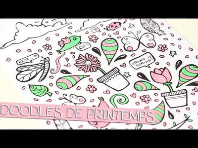 TUTO DESSIN - Doodles de printemps - Spring doodles