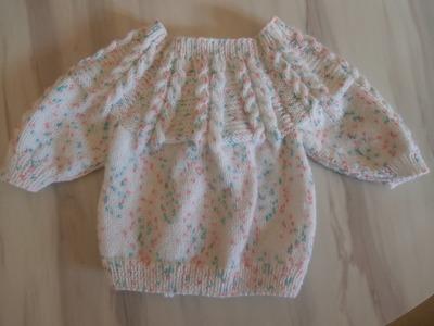 Tuto tricot layette brassière en taille naissance explications pendant le diaporama