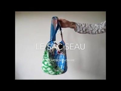 DIY | LE SAC SEAU EN TISSU. BUCKET BAG