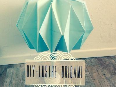 [DIY n°2] Lustre Origami Pastel