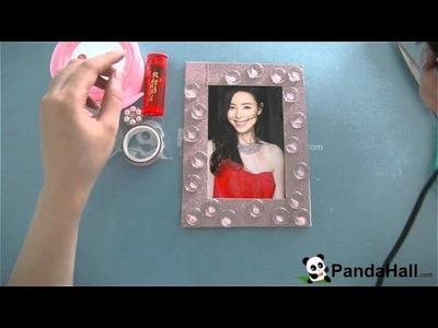 Vidéo 7 DIY décoration à la maison-un cadre de photo personnalisé avec des rubans et des perles