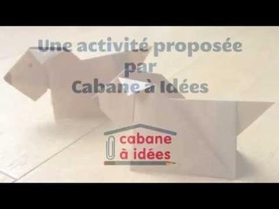 DIY origami facile de chien