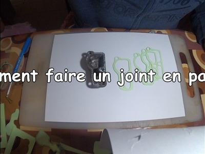 Comment faire des joints en papier pour les pièces mécaniques (diy paper gasket)