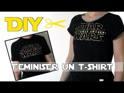 DIY Féminiser un t-shirt masculin - Vidéo spéciale Star Wars Day