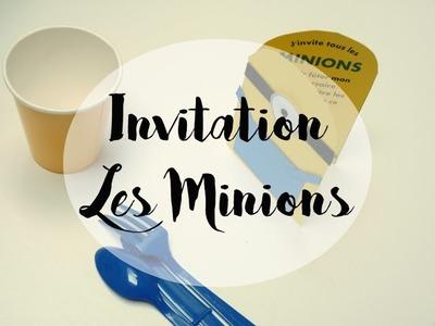 [GOUTER D'ANNIVERSAIRE] Invitations Minions DIY