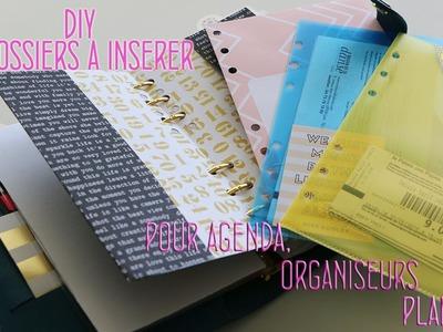 DIY - 4 Mini Dossiers à insérer pour Agenda Organiseurs Planners