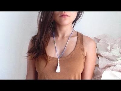 DIY | Collier pompon┆Alyssia