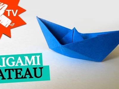 Bateau en papier - origami facile