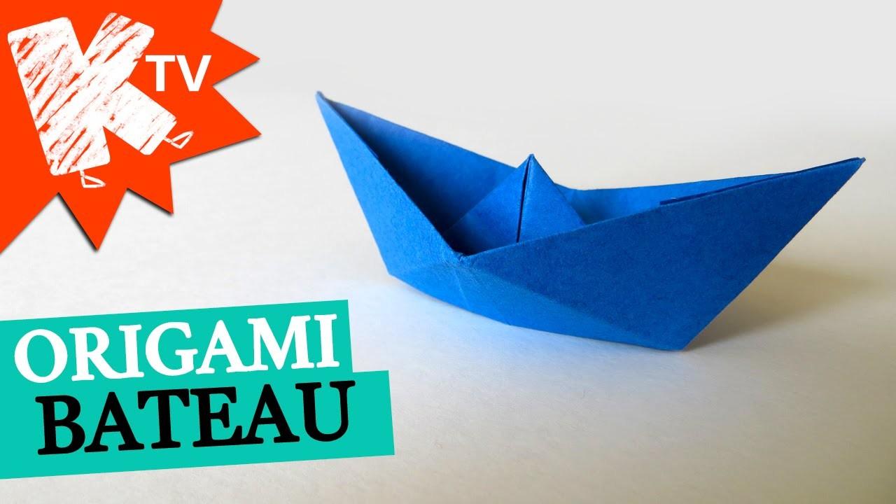 bateau en papier origami facile. Black Bedroom Furniture Sets. Home Design Ideas