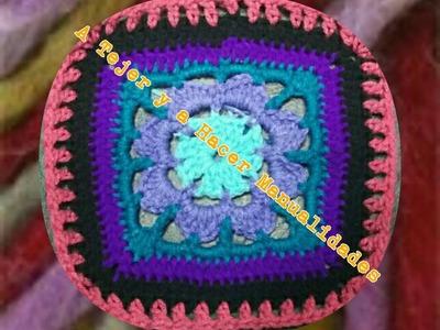 Chaleco en crochet con flecos facil