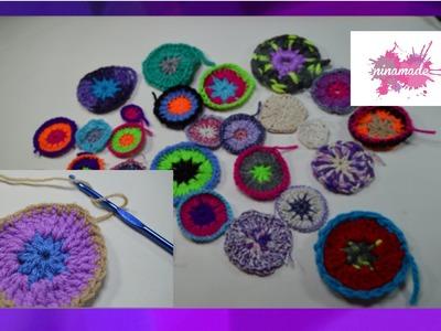 DIY. Comment faire un rond en crochet.  How to crochet circles.