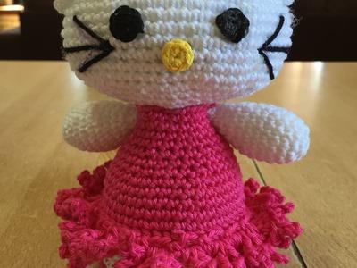 Tuto Hello kitty spécial gaucher au crochet 1.2