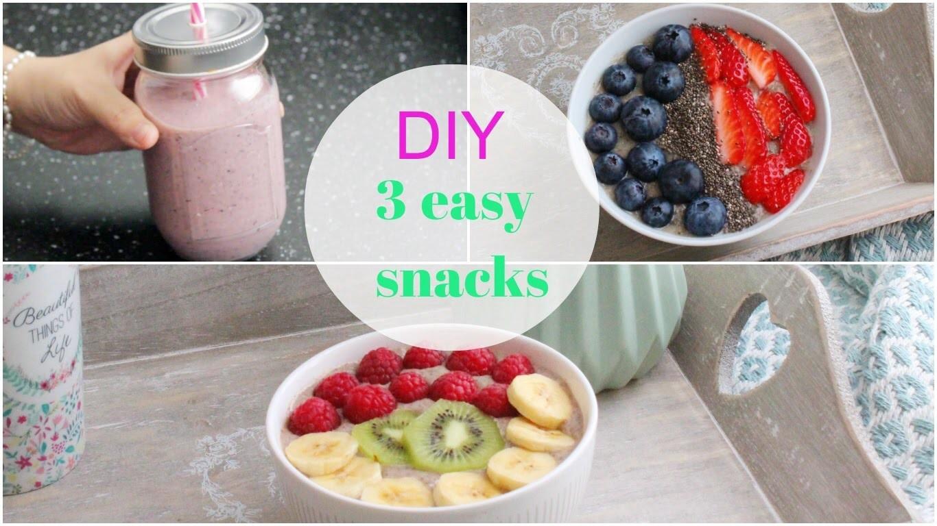 DIY : 3 snacks healthy facile à faire !