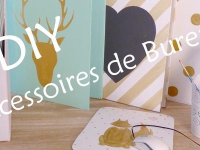 DIY Déco Accessoires de Bureau White & Gold (& Mint)